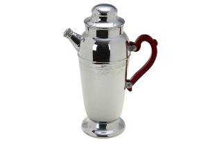 vintage-art-deco-chrome-cocktail-shaker-red-bakelite-handle