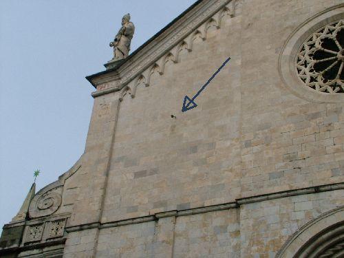Particolare della Cattedrale di Sarzana (foto di L. Manzo)